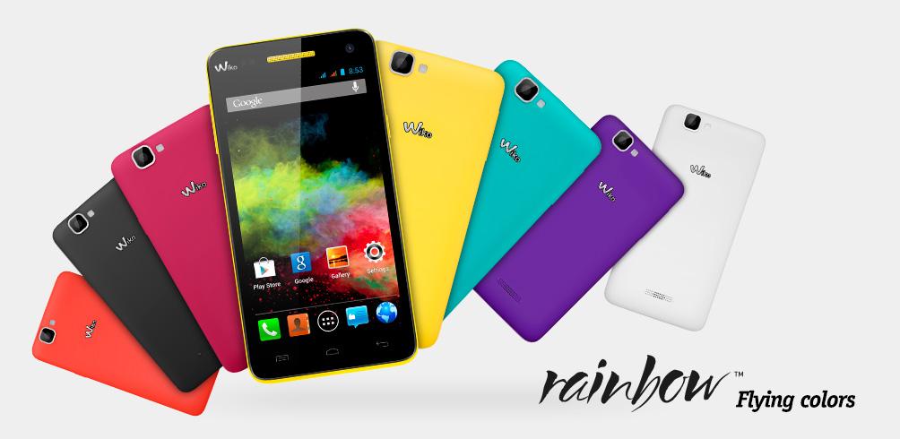 Alle Farbversionen des Wiko Rainbow | © de.wikomobile.com