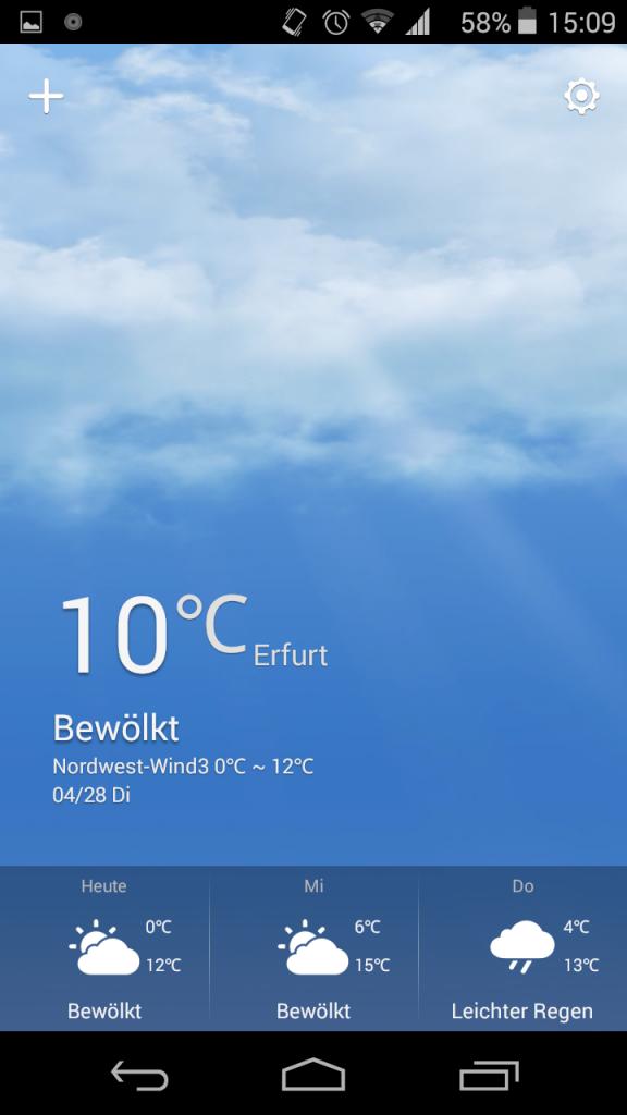 Wiko Wetterapp