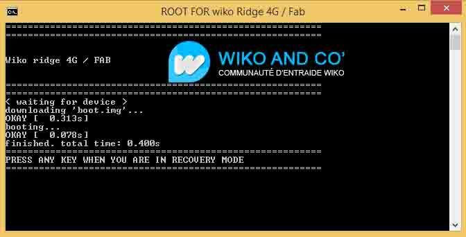 Wiko Ridge / Ridge Fab Root tool 4