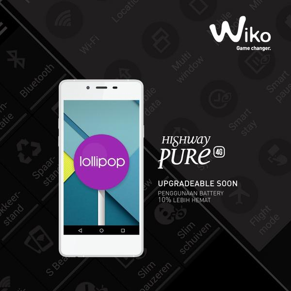 Wiko Highway Pure Lollipop Upgrade