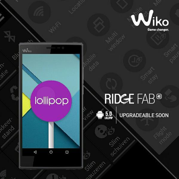 Wiko Ridge Fab 4g Lollipop Upgrade