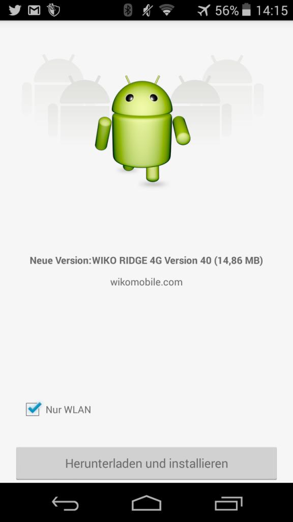 Wiko Ridge Update 40 Stagefright Fix
