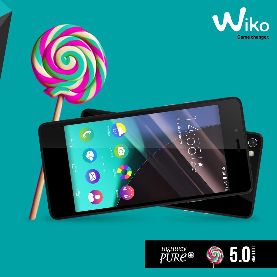 wiko highway pure lollipop