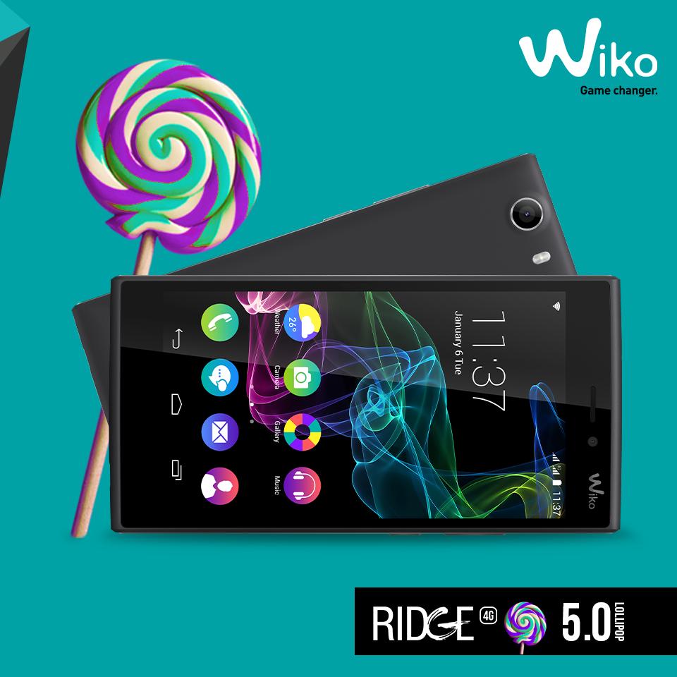 wiko ridge lollipop