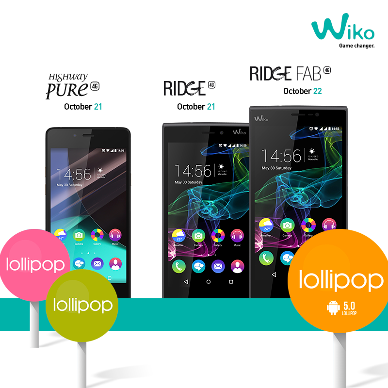 wiko ridge ridge fab highway pure lollipop