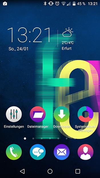 System-UI des Fevers