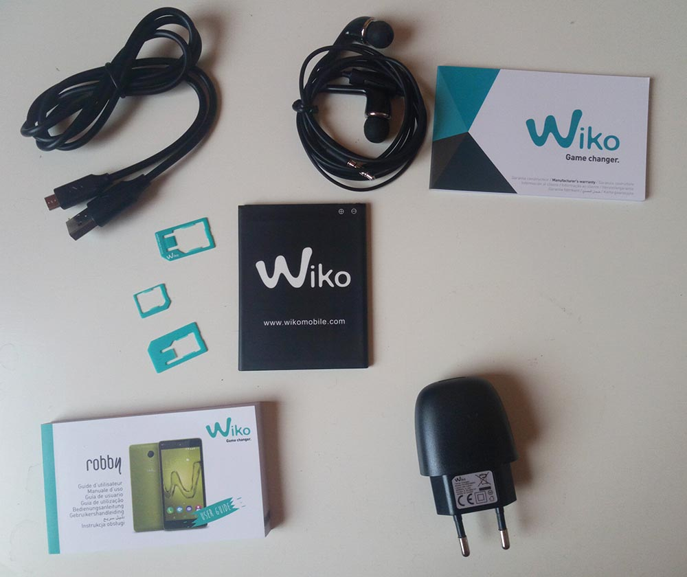 Wiko Robby Lieferumfang